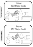 3D shape book - match, cut, paste, AND color ACTIVITY MINI BOOK