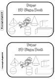 3D shapes book - match, cut, paste, AND color ACTIVITY MINI BOOK