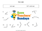 Acute, Obtuse and Right Angles lesson plans, worksheets and more