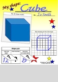 3D shape poster for students to make.  All materials supplied