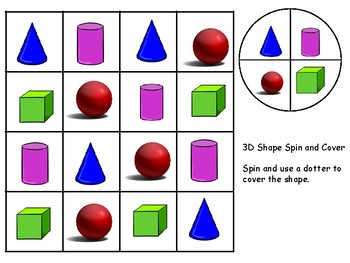 3D shape spin and cover