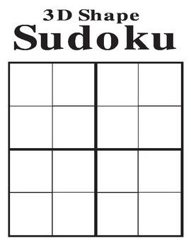 3D shape sudoku, 3D shape Bingo and Pattern block sudoku