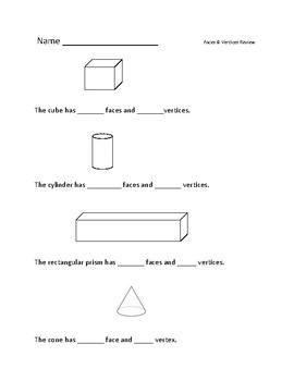3D shapes: Faces & Vertices