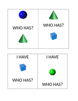 3D shapes I have...who has?