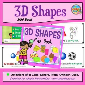 3D Shapes Poem Mini Book
