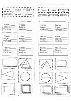 3D shapes Properties/ Characteristics
