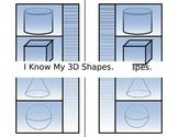 3D shapes interactive math journal