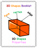 3D shapes properties, posters and worksheet pack