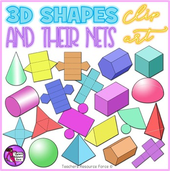 Shapes & their Nets clip art
