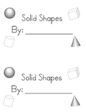 3D (solid) shapes student book - K.G.3 and K.G.5