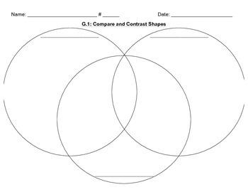 3G.1 2-D Shapes Graphic Organizer Bundle