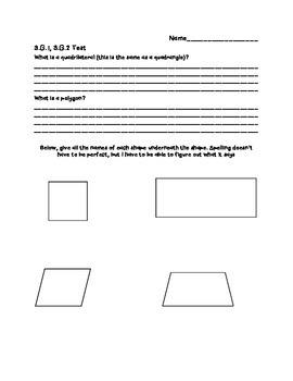 3.G.1, 3.G.2 Assessment