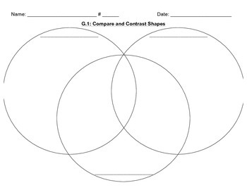 3G.1 Compare and Contrast 3 Shapes