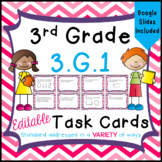 Geometry Task Cards - 3.G.1 - Distance Learning - Google Classroom