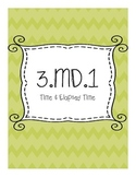3.MD.1 Time and Elapsed Time