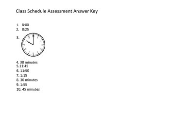 3MD1 Class Schedule Assessment for Time