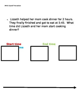 3MD1 Elapsed Time story problems, full hour elapsed time only
