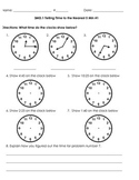 3MD.1 Telling Time to the Nearest Minute and 5 Minute Bundle
