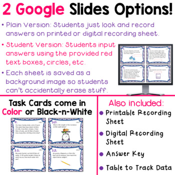 3.MD.2 Task Cards for Third Grade Math Common Core - Volume and Mass