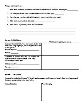 (3.MD.3) Graphing -3rd Grade Common Core Math Worksheets- 3rd 9 Weeks