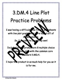 3.MD.4 Line Plot Practice Problems