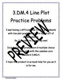 3.MD.4 Line Plot Practice Problems