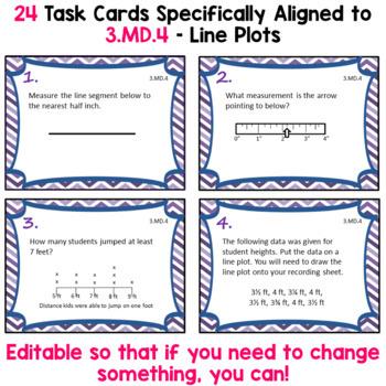 Line Plots Task Cards - 3.MD.4