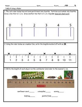 3.MD.4 Using A Ruler and Broken Ruler