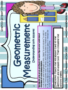 3.MD.5 Third Grade Common Core Worksheets, Activity, and Poster