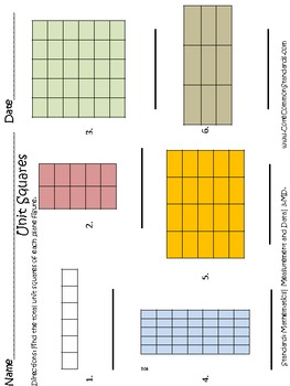 3.MD.6 Third Grade Common Core Worksheets, Activity, and Poster