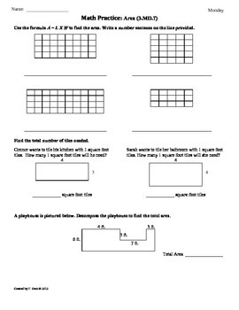 3 md 7 area part 3 3rd grade common core math worksheets 4th 9 weeks. Black Bedroom Furniture Sets. Home Design Ideas