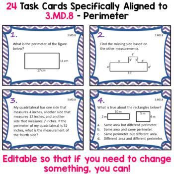Perimeter Task Cards - 3.MD.8