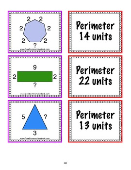 3.MD.8 Third Grade Common Core Worksheets, Activity, and Poster