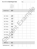 3Minute Math Dash: Student Tracking Sheet (Preview)
