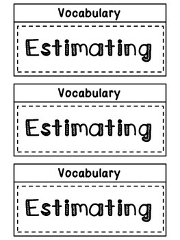 3.NBT CCSS Math Vocabulary Foldables