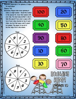 3.NBT Games -- Rounding, Addition, Subtraction, and Multiplying Multiples of Ten