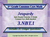 3.NBT.1 Jeopardy Game 3rd Grade Math - Round To Nearest 10 or 100 3.NBT.1