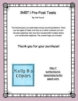 3NBT1 Pre-Post Tests