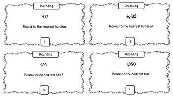 3NBT1 Rounding/Estimating Task Cards