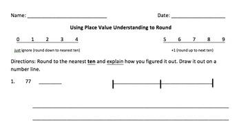 3NBT.1 Rounding Worksheets Bundled