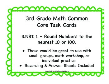 3.NBT.1 Task Cards