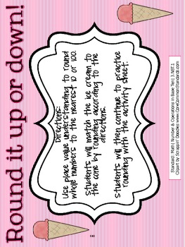 3.NBT.1 Third Grade Common Core Worksheets, Activity, and Poster