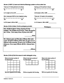 (3.NBT.2) Add & Subtract -3rd Grade Common Core Math Worksheets - 1st 9 Weeks