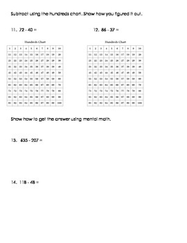 3NBT.2 Addition and Subtraction Strategies Bundle 2