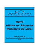 3NBT2 - Addition and Subtraction - Worksheets and Games