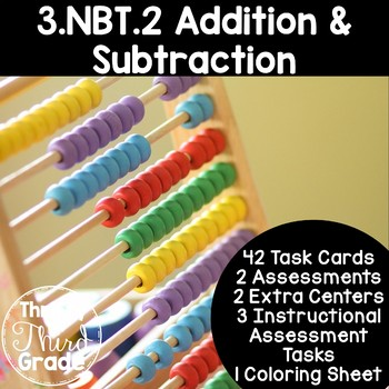 3.NBT.2 -Task Cards, Assessments, Centers and More