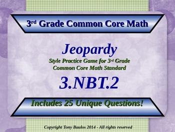 3.NBT.2 Jeopardy Game 3rd Grade Math 3 NBT.2 Add ...