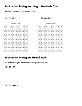 3NBT.3 Addition and Subtraction Strategies Assessment