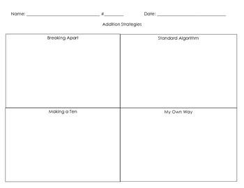 3NBT.3 Intro Addition Strategies