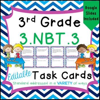 Multiples of 10 Task Cards - 3.NBT.3